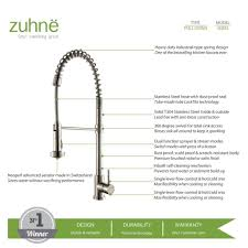 zuhne stainless steel pull down water saving kitchen faucet