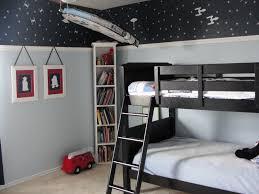 bedroom kids room black polished iron leirvik bed with blue bed