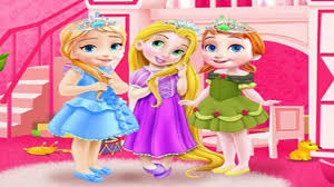 disney princess frozen baby anna elsa and rapunzel room cleaning