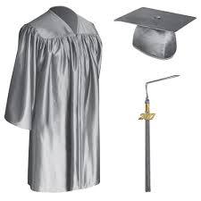 black graduation cap and gown silver child graduation cap gown tassel