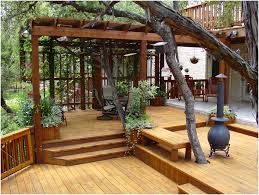 backyards gorgeous austin multi level deck with pergola 6 the
