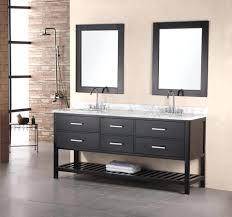bathroom black white trough sink faucets long shelf cabinet under