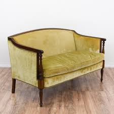 Armen Living 844 Barrister Sofa by This Victorian Recamier Sofa Is Upholstered In A Silk Like Beige