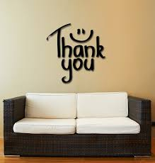 wall stickers vinyl decal quote inspire message words thank you in