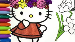 hello kitty coloring pages valentines day youtube
