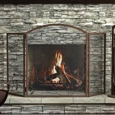 glass door fireplace screen fleshroxon decoration