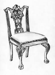 ribband back chippendale chair sketch andrea andert