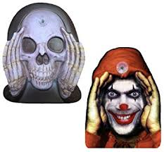 Scary Halloween Decorations Amazon by Amazon Com 2 Pack Scary Peeper Window Cling Clown And Reaper