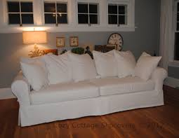 Denim Sofa Slipcovers by Cozy Cottage Slipcovers Pillow Back Sofa Slipcover