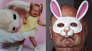 evil easter bunnies in terrifying family photos wicked horror
