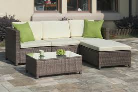 Outdoor Patio Sectional Furniture - poundex p50244 outdoor patio sectional sofa set