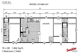 floor x mobile home plans excel es1680 layout sunshine homes house