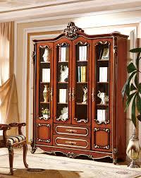 village real wood bookcase storage display cabinet free