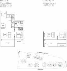 the glades condo floor plan u2013 1br suite u2013 a3 u2013 47 sqm 506 sqft a3