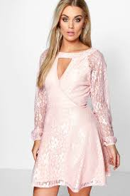 boo hoo clothing plus emily lace skater dress boohoo