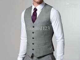 mens light gray 3 piece suit fashion design groom vests groomsmen best man vests men business
