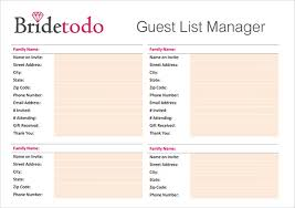 Wedding Itinerary Template For Guests Sample Wedding Guest List Template 15 Free Documents In Word