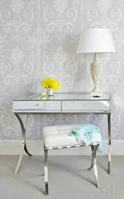 mirrored console vanity table contemporary mirrored desk stunning chic glass dressing table with