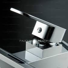 Centerset Waterfall Faucet Waterfall Centerset Brass Led Sink Faucet