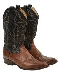 cowboy boots uk leather brown leather cowboy boots uk 8 5 shoes rokit vintage clothing