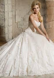 mori lee bridal 2787 lace ballgown wedding dress