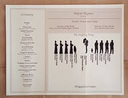 folded wedding program template tri fold wedding program template with bridal silhouette