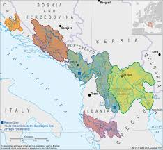 Map Of Southeastern Europe by Transboundary Surface Water Bodies U2014 Twrm Med