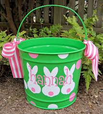 easter buckets personalized easter 10 qt assorted colors by twosisters76