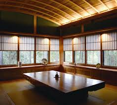 enchanting traditional japanese living room idea with sturdy teak