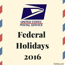 usps federal holidays 2016 konhaus print marketing