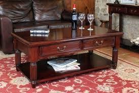mahogany coffee table with drawers mahogany coffee table with drawer mahogany oval one drawer inlay