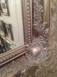 x large antique silver shabby chic ornate decorative wall mirror