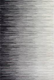 Black And Silver Rug Electricity Ombre Rug Contemporary Area Rugs By Nuloom