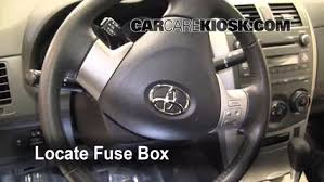 toyota corolla fuse box location interior fuse box location 2009 2013 toyota corolla 2010 toyota