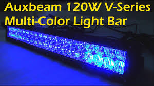 led equipped light bar auxbeam v series bluetooth 120w multi color rgb light bar 22 youtube