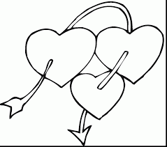 outstanding printable heart coloring pages for kids with heart