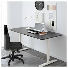 Esszimmer M El Fundgrube Bekant Schreibtisch Sitz Steh Birkenfurnier Schwarz Ikea