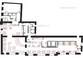 Cad Floor Plans by Kitchen Of The Restaurant Dwg Free Cad Blocks Download For