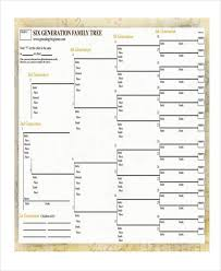 9 family tree chart templates free samples examples format