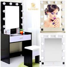 Vanity Makeup Mirrors Large Hollywood Makeup Mirror Tabletop Vanity Lighted Dimmable 12