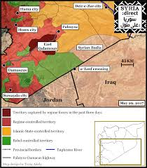Syria Fighting Map by Us Backed Rebels Losing Territory In East Syrian Desert To Regime