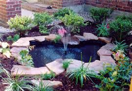 best outdoor fountain pond small backyard ponds bing images ideas