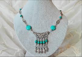 gemstone beaded necklace images Turquoise beaded necklace jpg