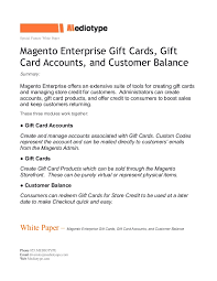 create a gift card mediotype white paper magento enterprise gift cards