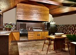 Home Design Elements Wooden Elements And Furniture Of A Concrete House Design Interior