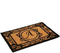 Monogrammed Rugs Outdoor by Door Mats U2014 Rugs U0026 Mats U2014 For The Home U2014 Qvc Com
