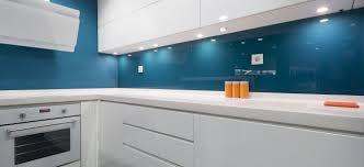 crédence verre trempé cuisine verre laqué sur mesure cuisines déco porte de placard crédences
