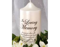 In Loving Memory Vase In Loving Memory Candle Decal Diy Memorial Candle Wedding