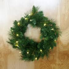 led artificial pine wreaths green 16 inch www