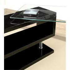 Swivel Computer Desk Furniture Of America Fiora Modern Swivel Computer Desk In Black